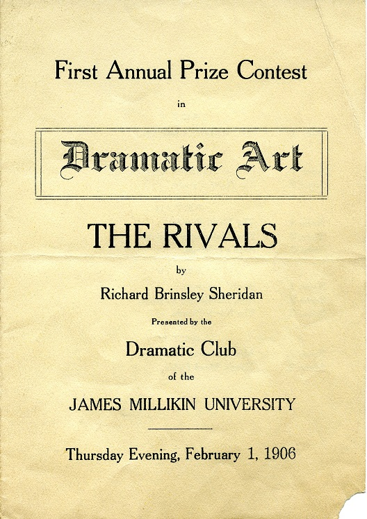 The Rivals play program, 1906