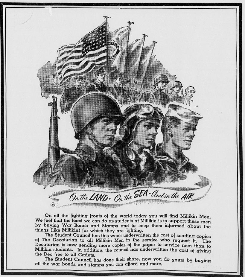 War bonds and stamps advertisement