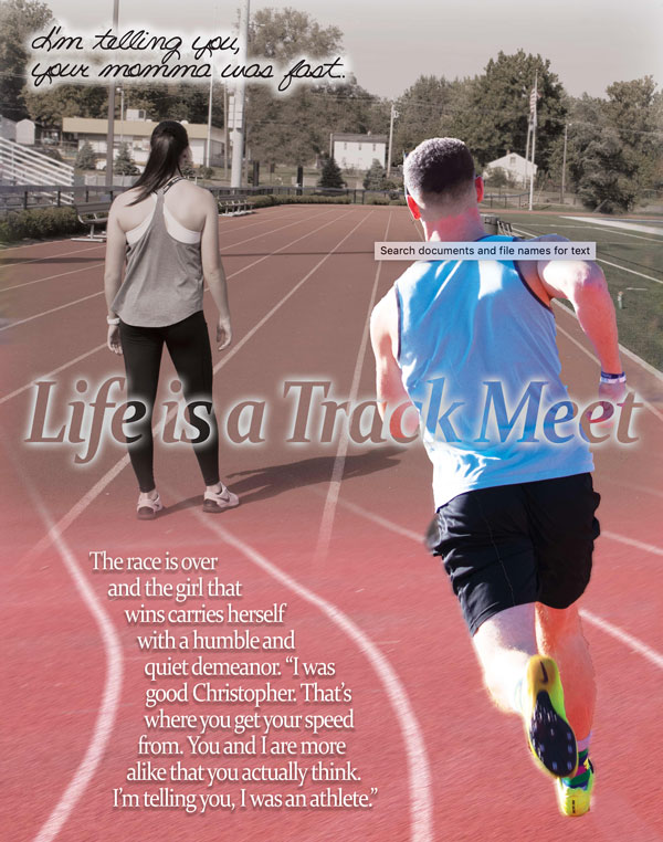 Life Is A Track Meet Poster