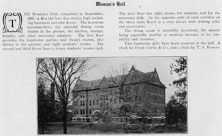Aston Hall in the 1908 Millidek page 58