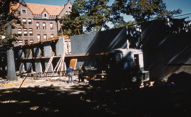 Walker Hall under construction