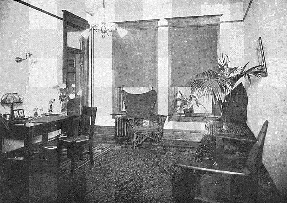 Dean Valentine's office inside the Woman's Hall