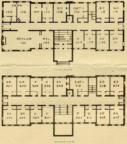 Aston Hall First and Second Floor original floor plan