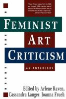 Book cover image for Feminist art criticism : an anthology