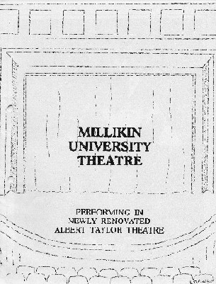 Albert Taylor Theatre program