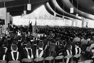 1986 Millikin commencement
