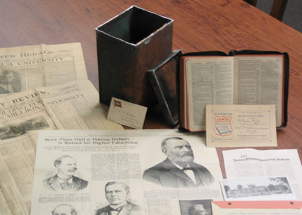 Contents of the time capsule