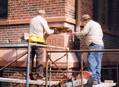 Removal of cornerstone in 2003