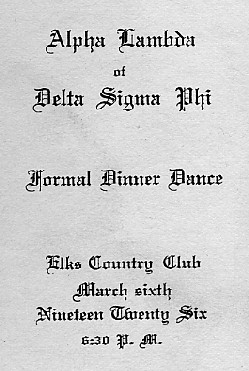 Title page of dance card