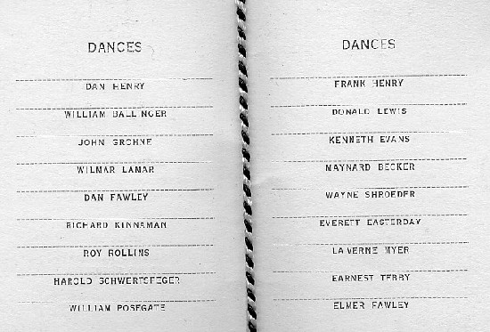 1932 TKE dance card