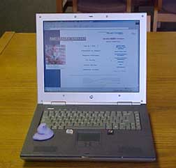 photo of Peep using laptop