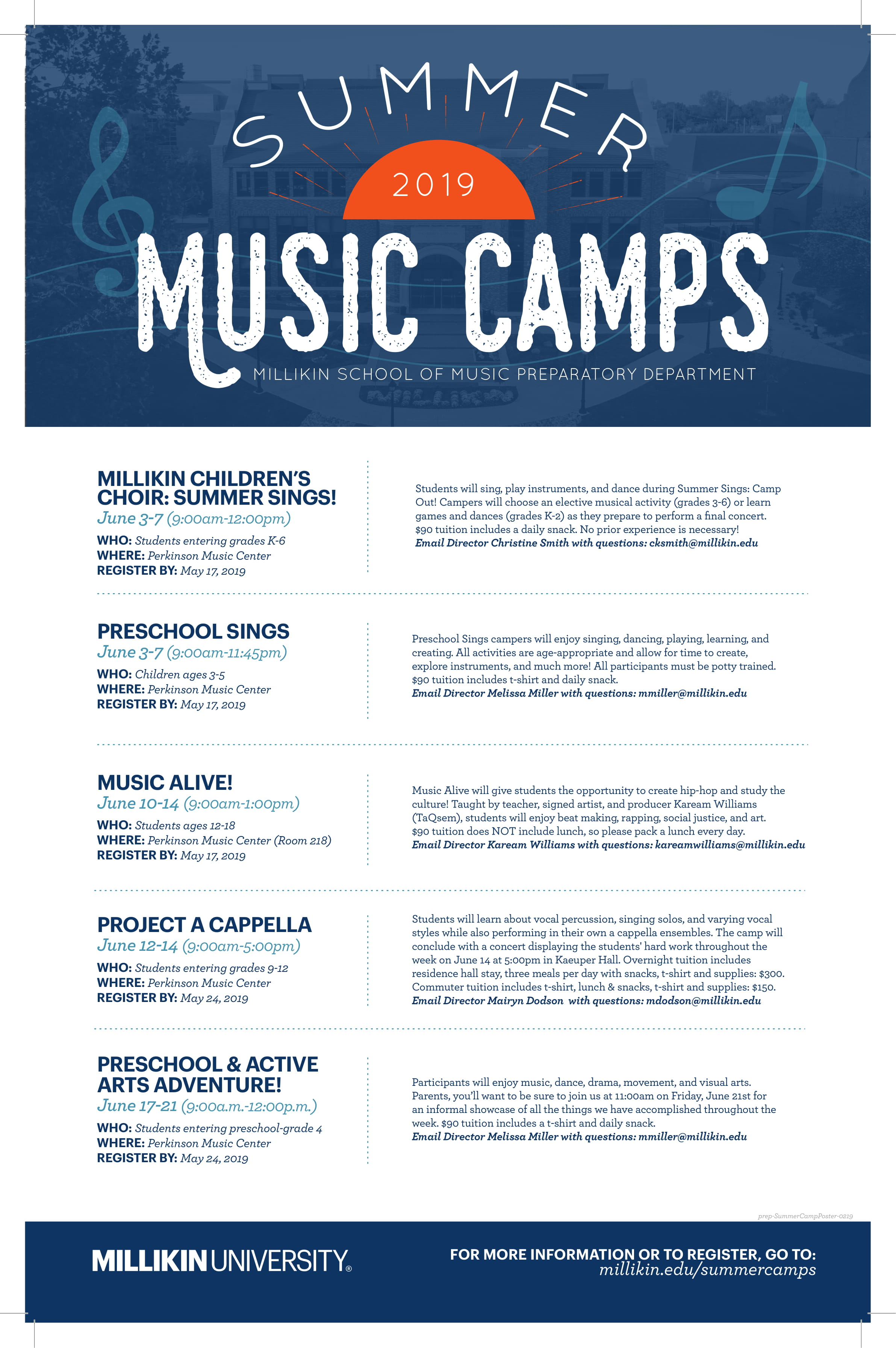 millikin summer camps