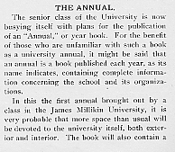 Image of the beginning of the Decaturian article from Dec. 1905