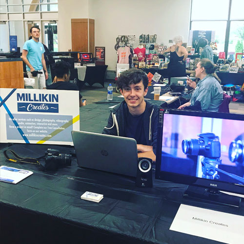 Zack Cook from Millikin Creates at the Midwest Music Expo