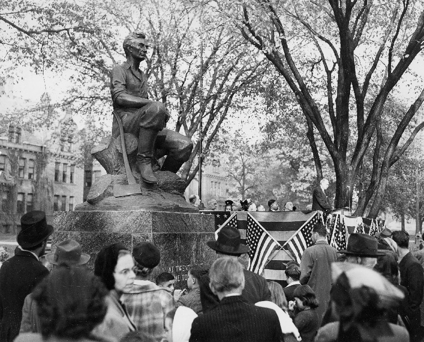 Dedication of Lincoln Statue October 24, 1948