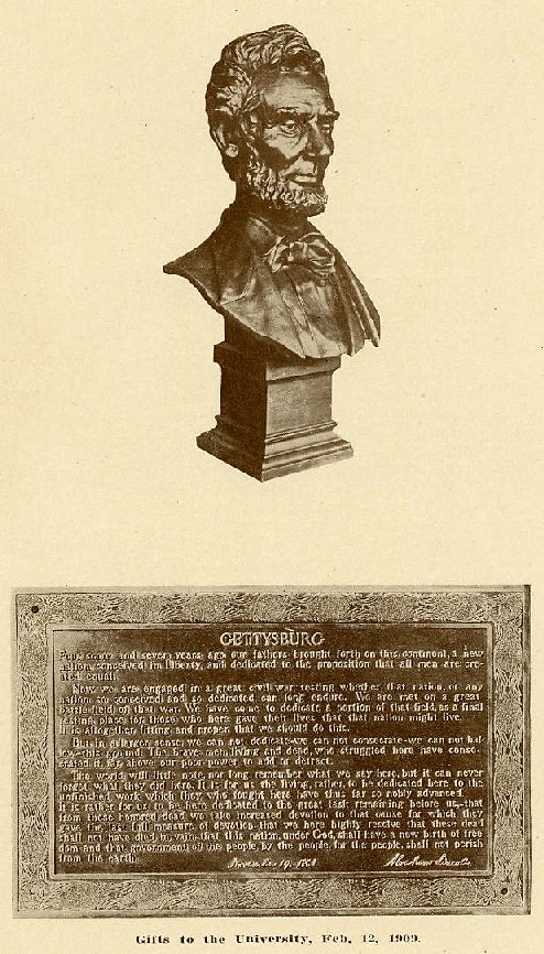 Image of plaque from 1909 yearbook