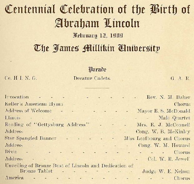 Lincoln Birthday program