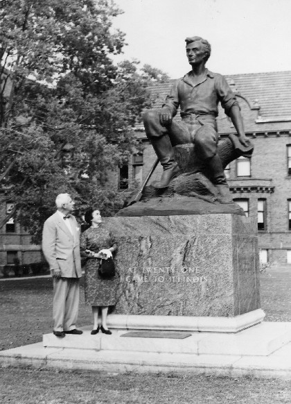 1958 image of Senator Paul Douglas and wife Emily Taft Douglas