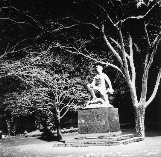 Night  image of statue