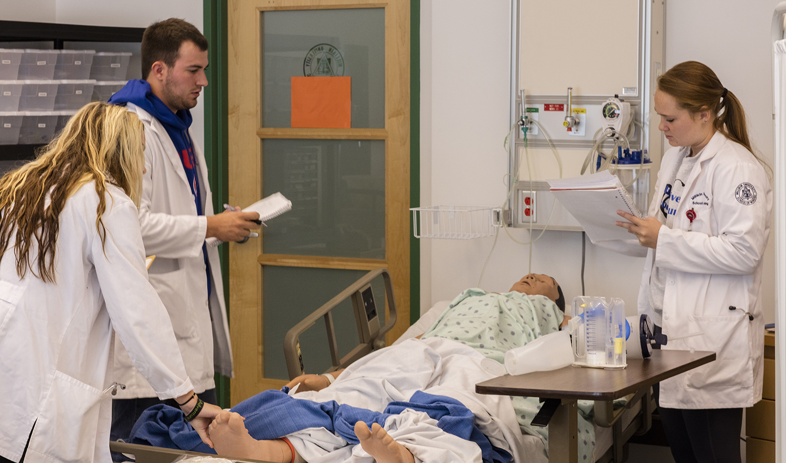 Students participate in nursing simulation