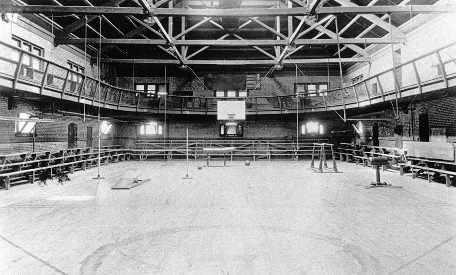 Old Gym interior in the 1910s