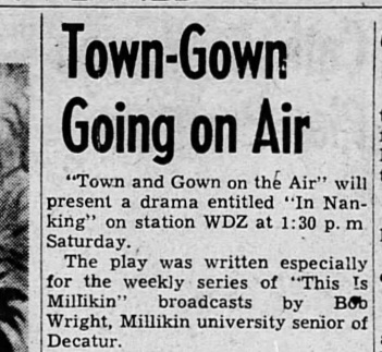 Town and Gown on air, 1950