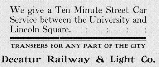 Advertisement from 28 September 1911 Decaturian (p5)