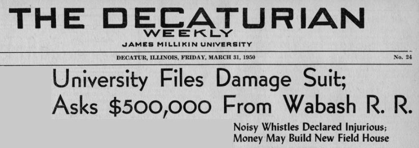 Headline from 31 March 1950