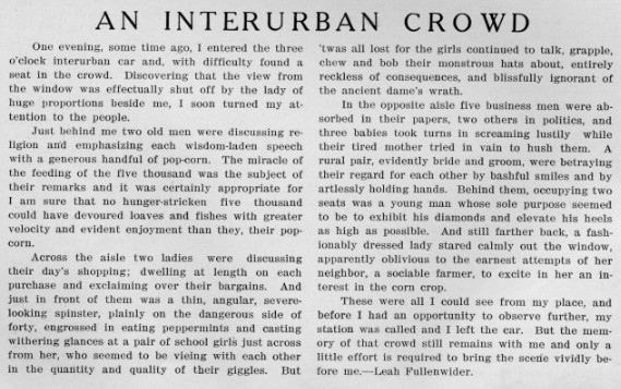 Article from January 1910 Decaturian