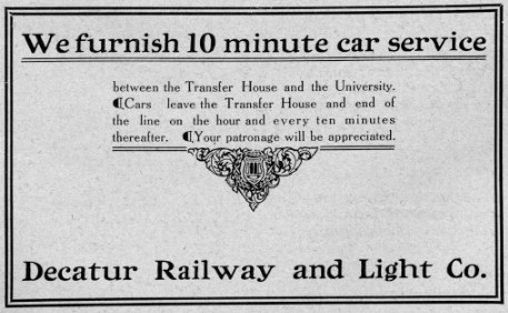 Advertisement from October 1909 Decaturian (p29)