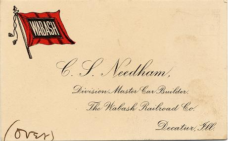 C.S. Needham business card
