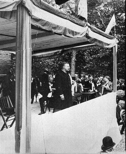 Image of President Roosevelt giving speech at Millikin University
