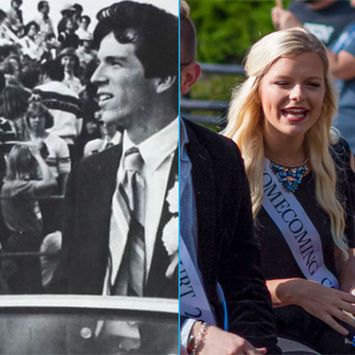 old pic and new pic of homecoming court
