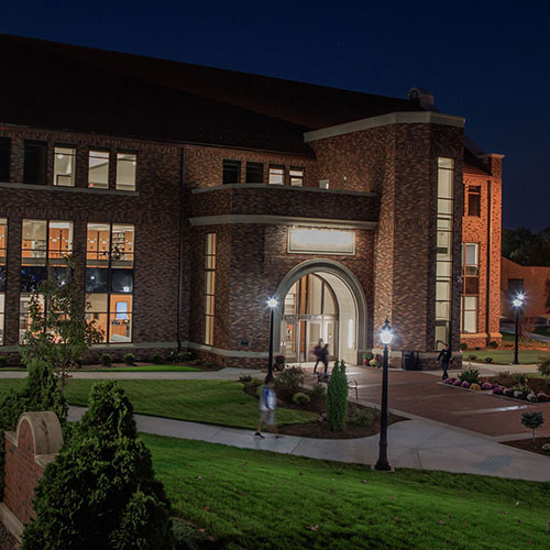 university commons at night