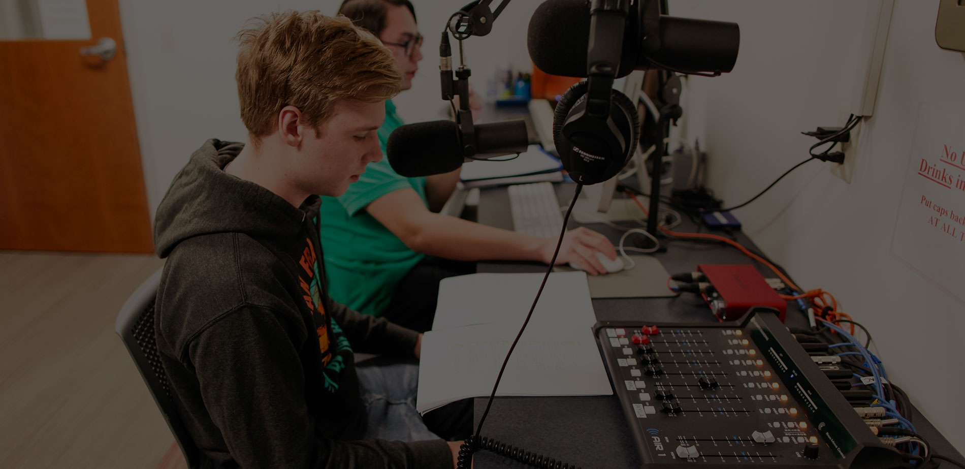 students on air