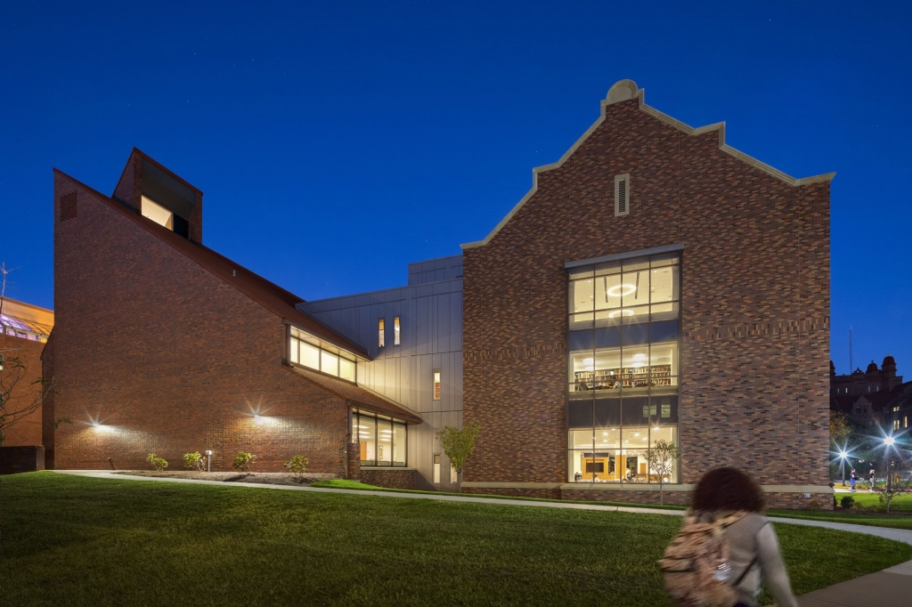 University Commons from the West at Dusk