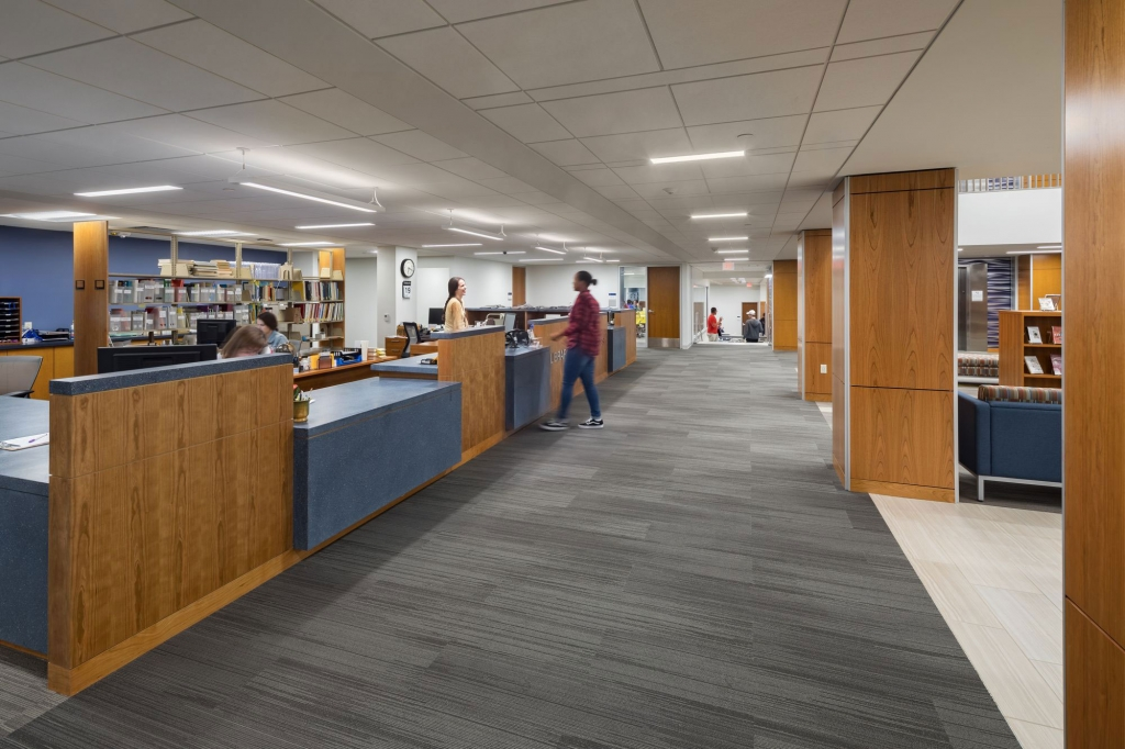 University Commons Staley Library Circulation Desk