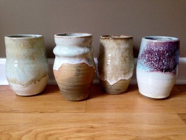 pottery from high school art exhibition