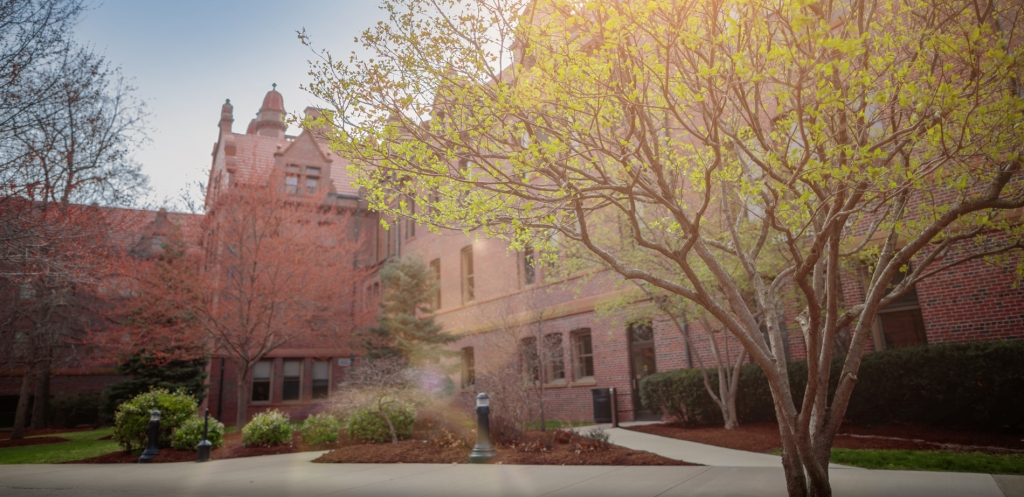 Shilling Hall in the Spring