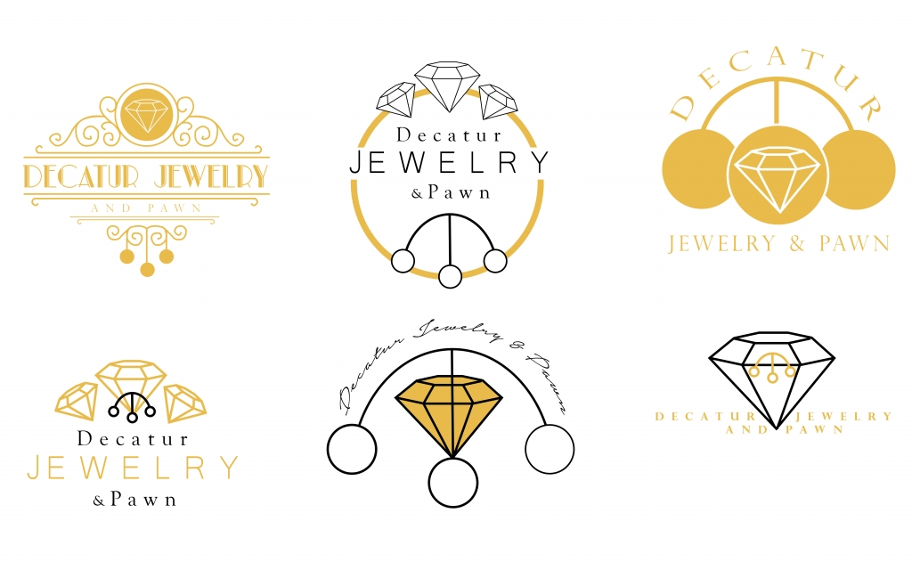 Decatur Jewelry and Pawn Logo Concepts