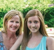 Carol Redford Basso '84 and her daughter Ana
