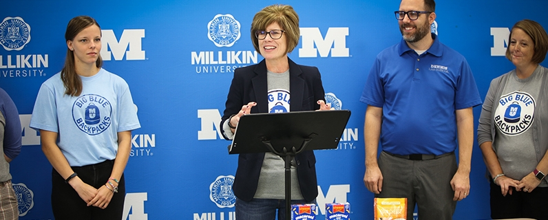 Millikin Big Blue Backpacks