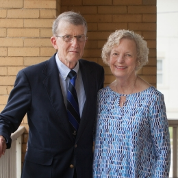 Jack and Barbara Witzeman McCoy, co-recipients of the 2017 Alumnus of the Year award