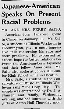Japanese-American speaks on, January 1944 Decaturian