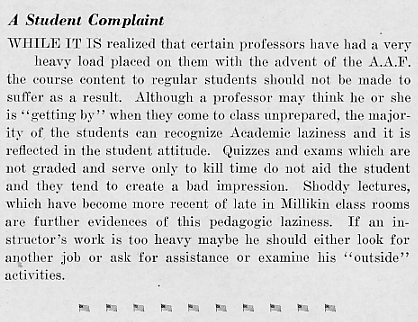 A student complaint, March 1943 Decaturian