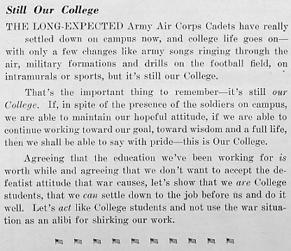 Still our college, March 1943 Decaturian