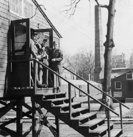 cadets at barracks entrance
