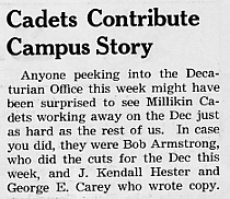 Cadets contribute campus story, September 1943 Decaturian