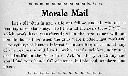 Morale mail, October 1943 Decaturian